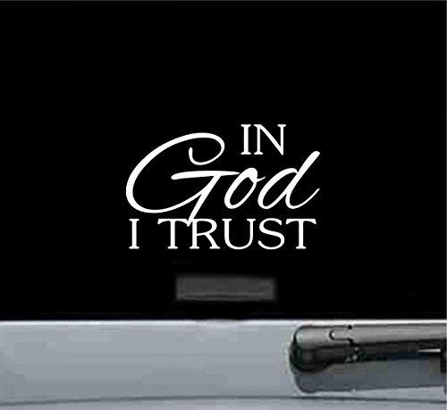 JS Artworks in God I Trust Vinyl Decal Sticker