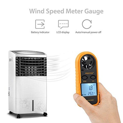 Wind Speed Meter : Proster anemometer digital lcd wind speed meter gauge air
