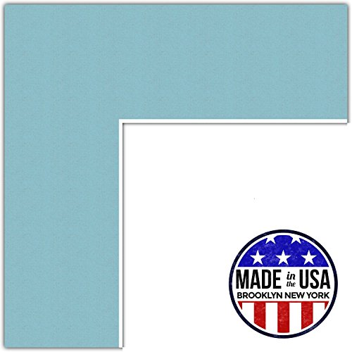 20x24 Aqua Blue/French Blue Custom Mat for Picture Frame with 16x20 opening size (Mat Only, Frame NOT (Blue Picture Mats Matting)