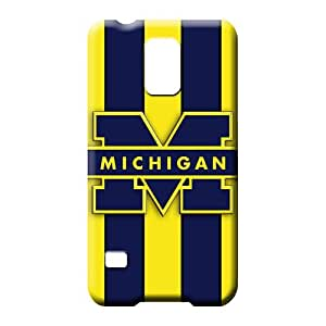 samsung galaxy s5 mobile phone shells PC Extreme Skin Cases Covers For phone michigan wolverines logo