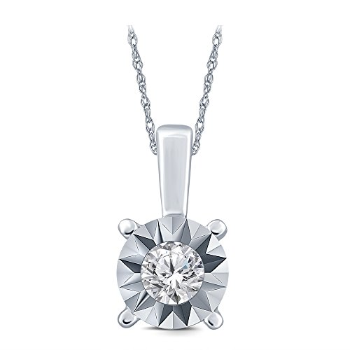 Round Egl Diamond Pendant - 5
