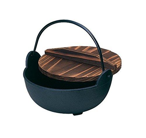 砺波商店 鉄製いろり鍋木製蓋付30cm 100-18   B019UQOLBS