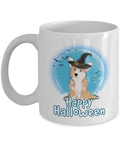 Happy Halloween Corgi - 11 OZ white Mugs for Major Tea, Coffee - Great Gift For Corgi Dog Lover - Perfect Gift for Birthday - By Kiwi Styles -