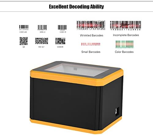 aibecy Scanner Barcode omnidirektional Platform 1d/2d/QR Barcode Scanner Reader Präsentation mit USB Schnittstelle
