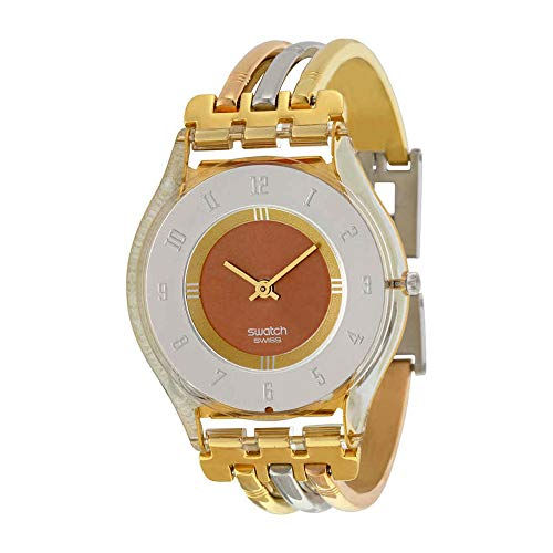 Swatch Women's SFK240B Quartz Stainless Steel Gray And Pink Dial Watch