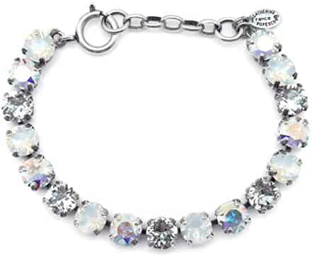 FB Jewels Solid Italian Charm Link Metal Crystal Stone Paved 3 Inch Drop Epoxy Necklace Jewelry