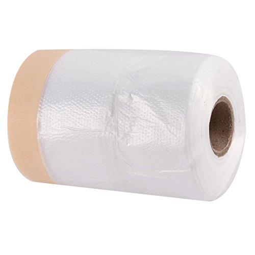 uxcell Car Furniture Pre-Taped Drop Film Masking Tape Protection Covering Cloth 30M ()