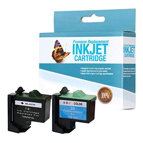 SuppliesOutlet Compatible Ink Cartridge Replacement for Lexmark 10N0016 (Bk, Clr,2 Pack) ()