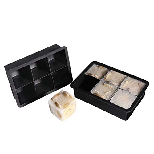 (77L Ice Cube Mold (Set of 2), Square Silicone Ice Cube Mold Tray - Reusable Ice Mold Maker for Whiskey, Cocktail, Beverages and More, Keep Drinks Chilled)