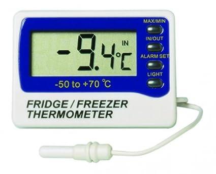 Termómetro para nevera / congelador con sonda externa e interna