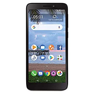 Simple Mobile TCL A1 4G LTE Prepaid Smartphone (Locked) - Black - 16GB - Sim Card Included - GSM