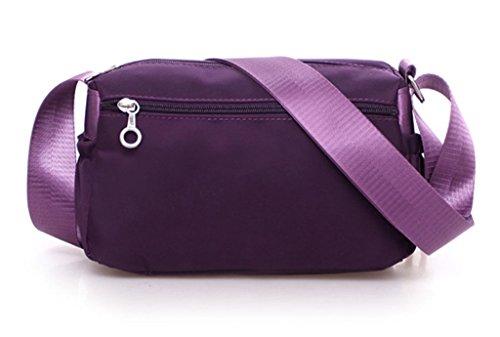 for C Handbag Girls Bag Cross Washable Bag Casual body Lightweight Pueple Nylon Shoulder Handbags Waterproof w8qzO