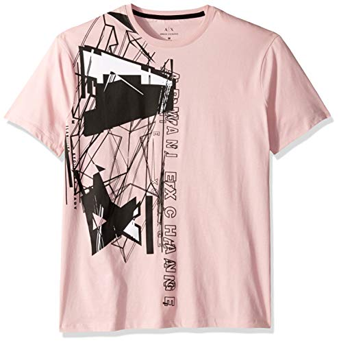 A X Armani Exchange Men's Short Sleeve Abstract Graphic T-Shirt, Zephyr, S