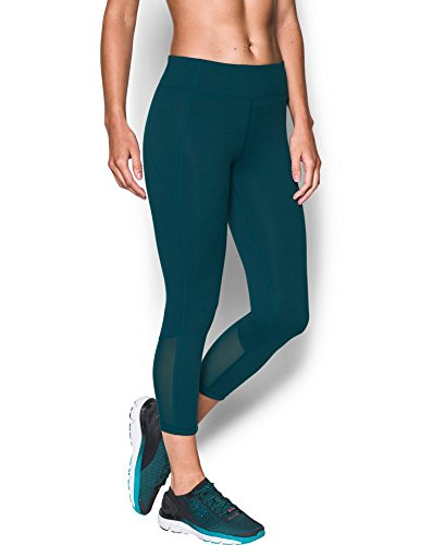 Under Armour Women's Mirror Color Block Crop, Nova Teal/Tonal, Large