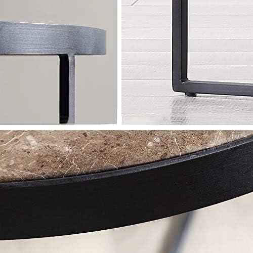 Online Winkelen MBZL bijzettafel, Nordic Retro Side bijzettafel, klein, ronde tafel, marmeren tafel, sofa, snack tafel voor woonkamer of kantoor  JHFpmP1