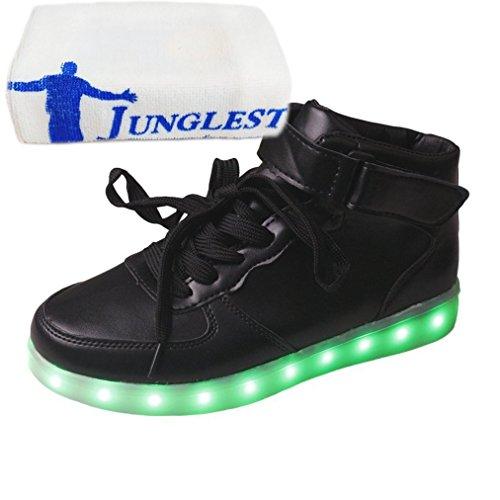 (Présents:petite serviette)JUNGLEST® - Baskets Lumin noir style velcro