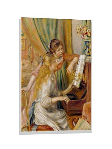 Renoir Jeunes Filles Au Piano - kunst für alle Glass Picture: Pierre Auguste Renoir Jeunes Filles au Piano, Wall Picture, Brilliant Art Print on Real Glass, 23.6x31.5 inch / 60x80 cm
