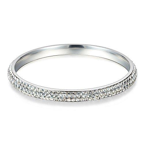 JewelrieShop Rhinestones Stainless Eternity Bracelet product image