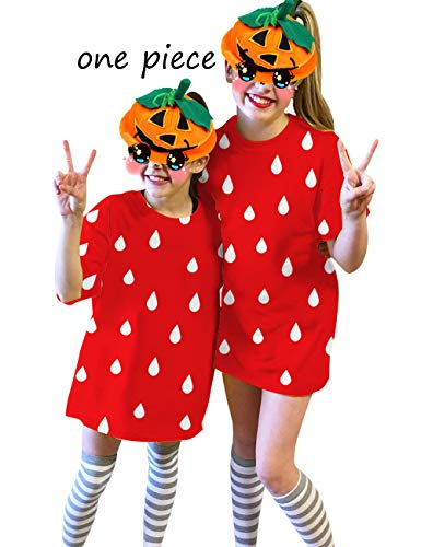UNIFACO Kids Girls Halloween Costume T Shirt Dress