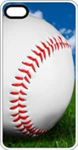 Baseball Up Close In Spring Clear Plastic Case for Apple iPhone 4 or iPhone 4s