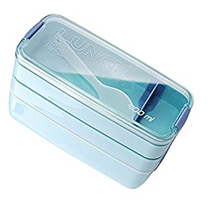 900ml 3 Layers Portable Microwave Lunch Bento Box Candy Color Food Containers Lunchbox Eco-Friendly