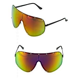 SHIELD OVERSIZED Huge Big MASK Half Face Owen Polarized Large Lens Sunglasses