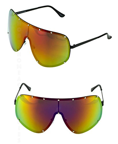 SHIELD OVERSIZED Huge Big MASK Half Face Owen Polarized Large Lens - Nose Big Sunglasses