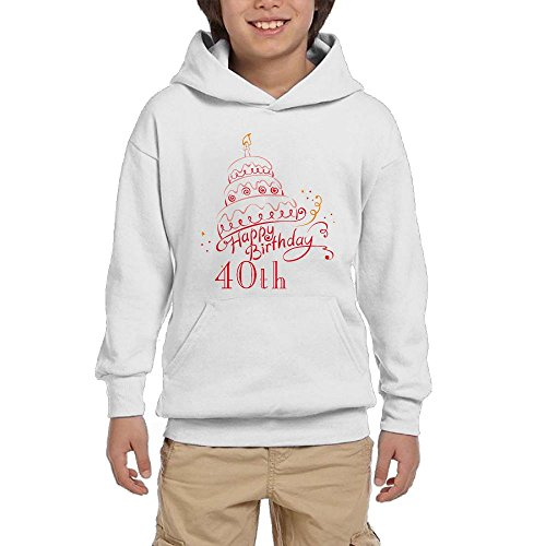 40th Birthday Gift Youth Unisex Hoodies Print Pullover Sweatshirts for sale