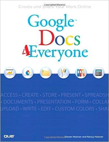 Amazon com: Google Docs 4 Everyone (9780789739360): Steven Holzner