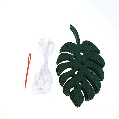 Childplaymate Tropical Hawaii Pineapple Leaf Garland Bunting Baby Shower Party Banner (C) from Childplaymate