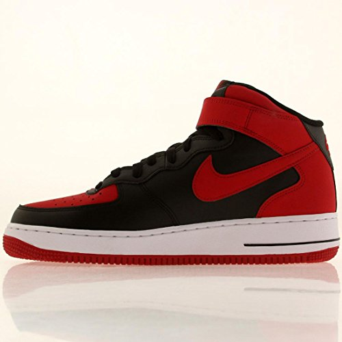 Men's Nike Air Force 1 Mid Black/Red/White Size 9 M US