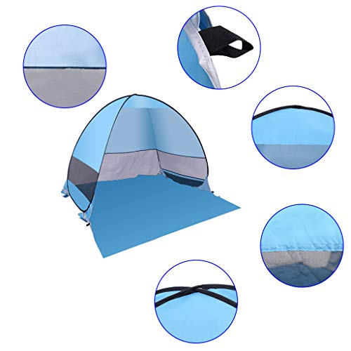 Roisay Baby Beach Tent, Outdoor Instant Portable Cabana 2-3 Person Anti UV Beach Tent Beach Shelter