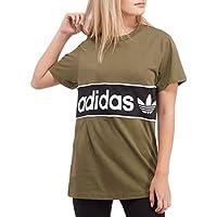 adidas Originals Womens Trefoil Crewneck Tee - Khaki