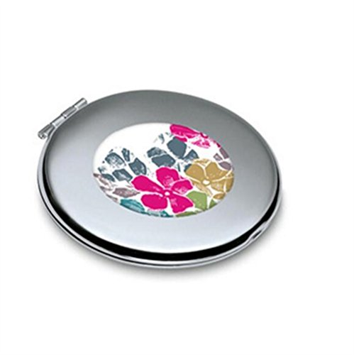KEANER Women's Accessories Cute Mirror Mini Flower Pattern Round Metal Small Glass Mirrors Circles for Crafts Decoration Cosmetic Accessory by KEANER