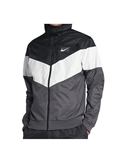 c9657103113c9e Galleon - Nike Mens HD GX Windrunner Hooded Track Jacket Black Summit  White Dark Grey AJ1396-010 Size 2X-Large