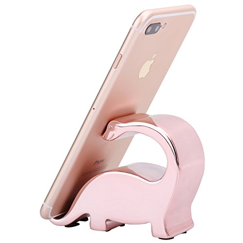 Plinrise Bling Sparkled Electroplating Resin Tanystropheus Phone Stand, Shiny Color IPad, For IPhone IPad Samsung Phone Tablet Plate Pc Holder/Mounts - Rose Gold