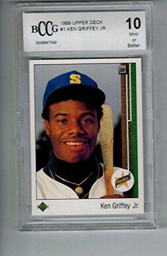 1989 Upper Deck #1 Ken Griffey Jr Rookie RC BGS BCCG 10 (1989 Upper Deck Ken Griffey Jr Rookie Card)
