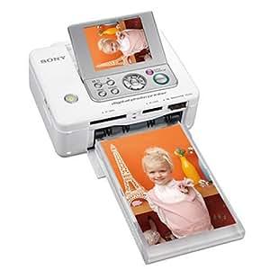 "Sony Digital Photo Printer, White Pintar por sublimación 300 x 300DPI impresora de foto - Impresora fotográfica (White, Pintar por sublimación, 300 x 300 DPI, 45 s, LCD, 9,14 cm (3.6""), CF, MMC, MS Duo, SD)"