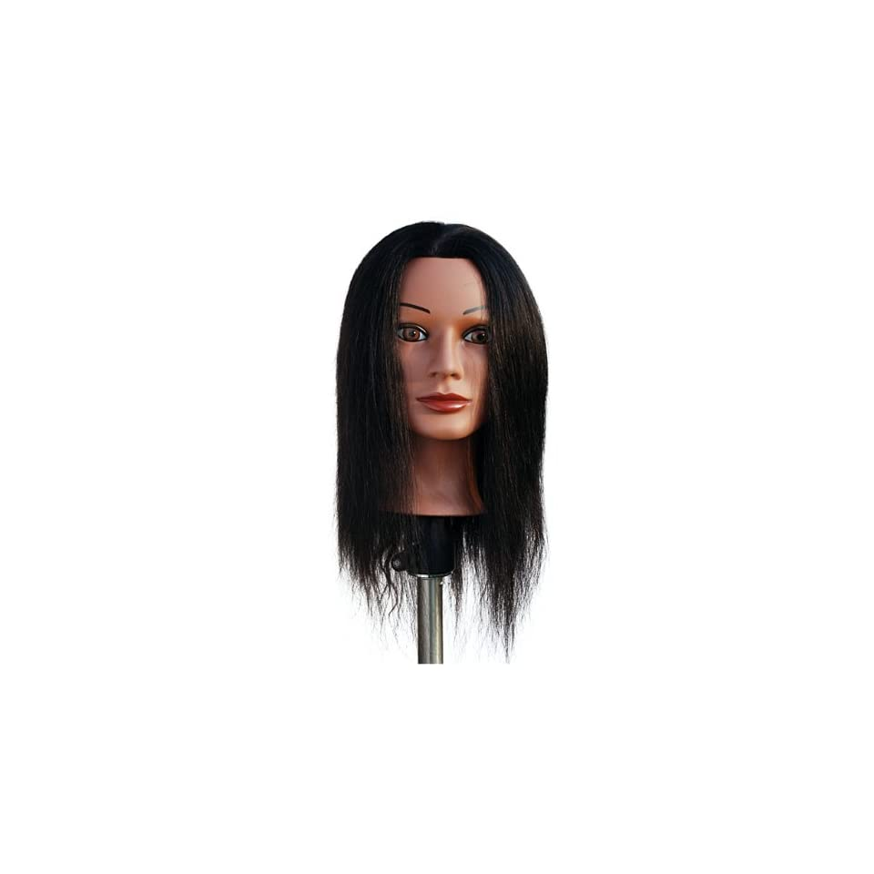 Marianna 22 Cosmetology Mannequin Head 100% Human Hair Ethnic   Miss Jenny