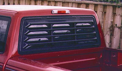 Willpak Industries 3010 ABS Classic Style Design Truck Rear Window Louver for Ford F-150