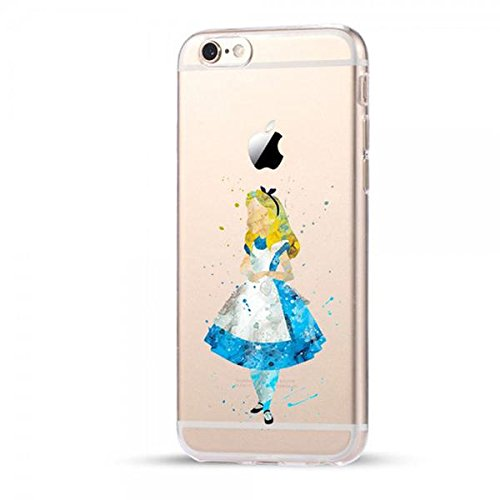 Disney Alice im Wunderland Schutzhülle Appel Iphone Serie TPU transparent Silikon Case Appel IphoneHülle - #0065 (Iphone 7/8)
