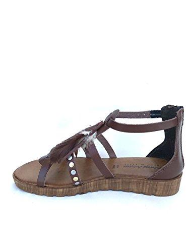 ZETA SHOES - Sandalias de vestir de Piel para mujer cuero