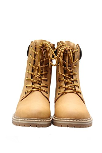 Forever Women's Broadway-3 Combat Hiking Boots