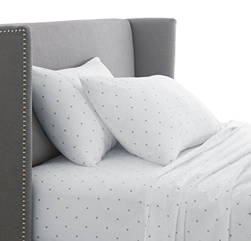 Pinzon 170 Gram Flannel Sheet Set – Cal King, Grey Dot