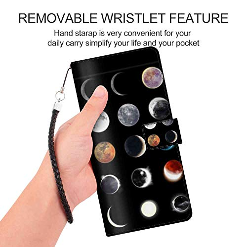 Galaxy Note 9 Phone Wallet Case (6.4in) Moon Wax or Wane Magnetic Style