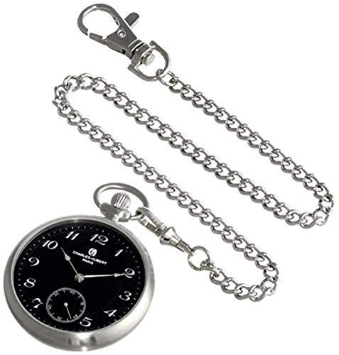 Charles-Hubert, Paris 3955-B Premium Collection Analog Display Mechanical Hand Wind Pocket Watch (Premium Collection Charles Hubert)