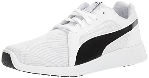 PUMA Men's ST Evo Cross-Trainer Shoe, White Black, 10.5 M US