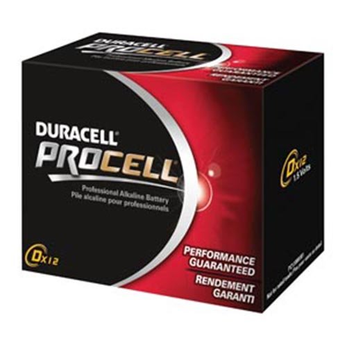 Duracell Procell Alkaline Battery Size D 1.5 Volt - Pack of 12