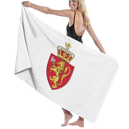 眼ピットうそつきビーチバスタオル バスタオル ノルウェー国旗の紋章 レジャーバスタオル 海水浴 旅行用タオル 多用途 おしゃれ White