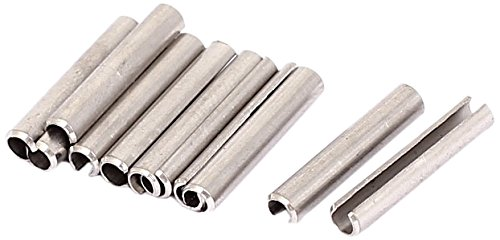 Sourcingmap a15081000ux0351 M3 x 18 mm 304 Stainless Steel Split Spring Roll Dowel Pins - Silver Tone (10-Piece)